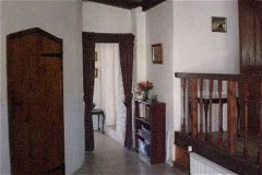 Hall in Cottage, leading to master bedroom & bathroom