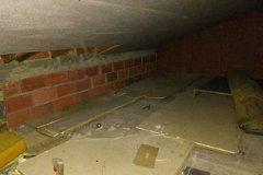 Storage space in eaves, top floor