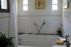 The Bathroom with full bath and shower