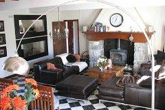 Lounge and large stone fireplace
