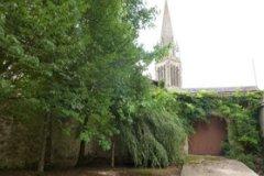 Garden & church to the rear