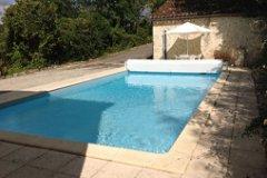 Pool towards Pool House