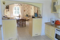 Kitchen through to dining room