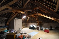 Very large attic on the second floor