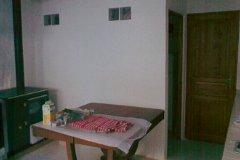 Kitchen showing both store/ pantries