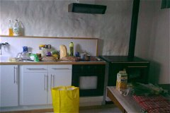 Kitchen, cooking woodburner