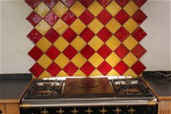 The 'Lacanche' piano 5 ring gas hob, oven & plate warmer