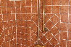 Bathroom 2 power shower with solid brass unit.