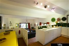 Villa - galleried kitchen and living area
