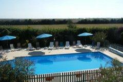 The salt treated swimming pool