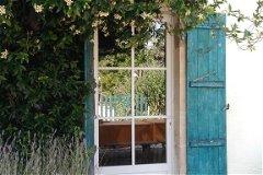 Les Boulins (sleeps 10) jasmine framed back door