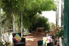 Les Ardoises (sleeps 8) - sunny terrace at the front of the house