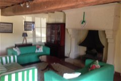 Les Boulins (sleeps 10) Salon and fantastic old fireplace
