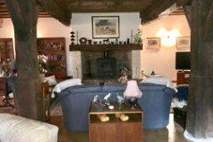 Fireplace in salon