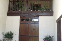 Balcony on front of house