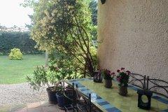 Terrace looking onto garden