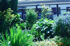 Pathway flowerbed