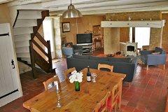 Cottage kitchen-diner & living room