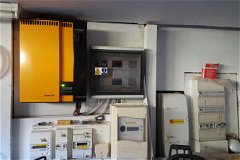 electrical board and photovotaic unit