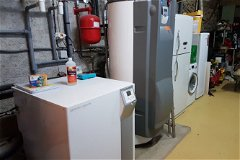 geothermal heat pump and solar hot water