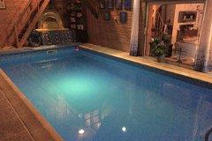 Swimming-pool at night