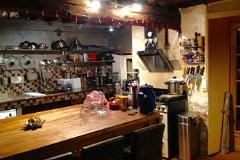 Main kitchen at night 35 sq metres