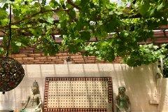 Garden dining terrace