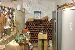 Wine corner of workshop, plus extra water heater & freezer