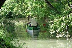 Kayak sur le bief