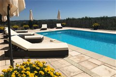 Realxing pool, lovely large sun terrace, with fabulous views.