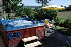Hot Tub in Retreat Garden