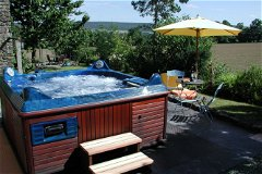Hot Tub in Retreat Garden