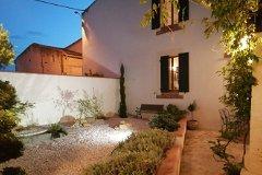 courtyard garden dusk