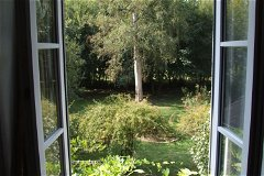 master bedroom rear garden view
