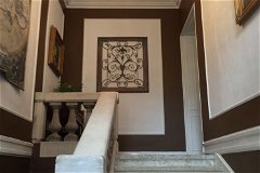 7m ceiling entrance; original stone and marble