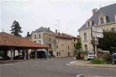 Centre of Village, with Les Halles on the left