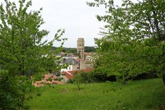 Charroux, with The Chalemagne Tower (Abbey)