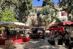 Collobrieres village sunday market