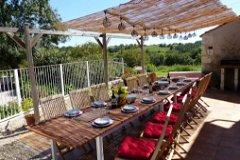 La Maison: Outside dining