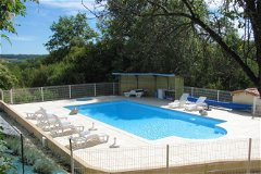 Swimming pool with solar heating for the Farmhouse and Le Petit Chene