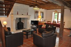 Villa Saule - the dining room and lounge