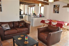 Villa Peuplier - Living and dining area