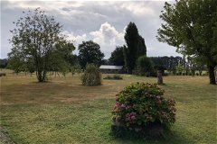 The garden and the stablings for horses