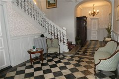 Entrance hall with original marble floor