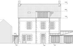 Rear facade projection