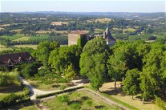 Aerial View of the Gardens, The Château and La Grange