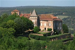 The Château is Perched High Above the Picturesque Célé Valley