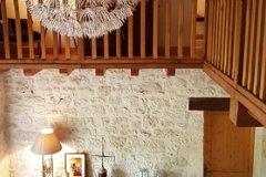 salon plafond cathédrale chauffage bois  500 m3 et PAC