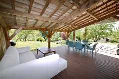 Gite covered terrace