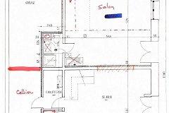 Floorplan gite ground floor